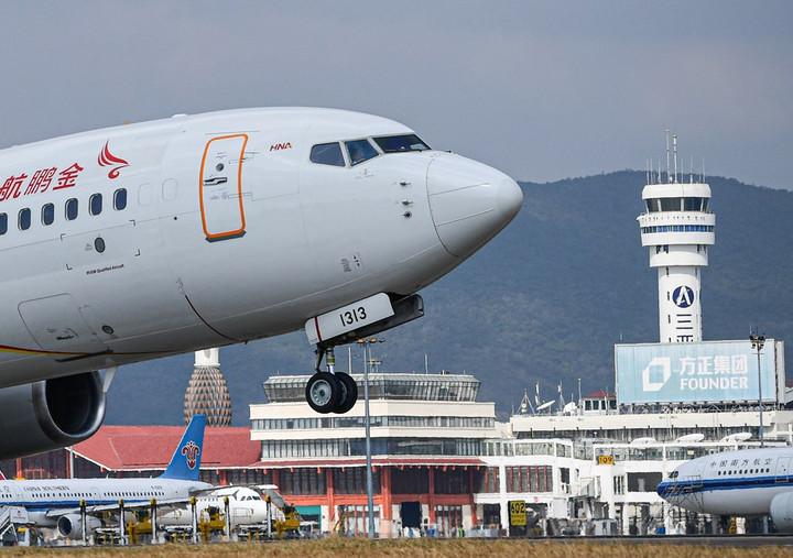 ภาคการบินพลเรือนจีน 'ฟื้นตัวเต็มอัตรา' กลับระดับก่อนเกิดโรคระบาด