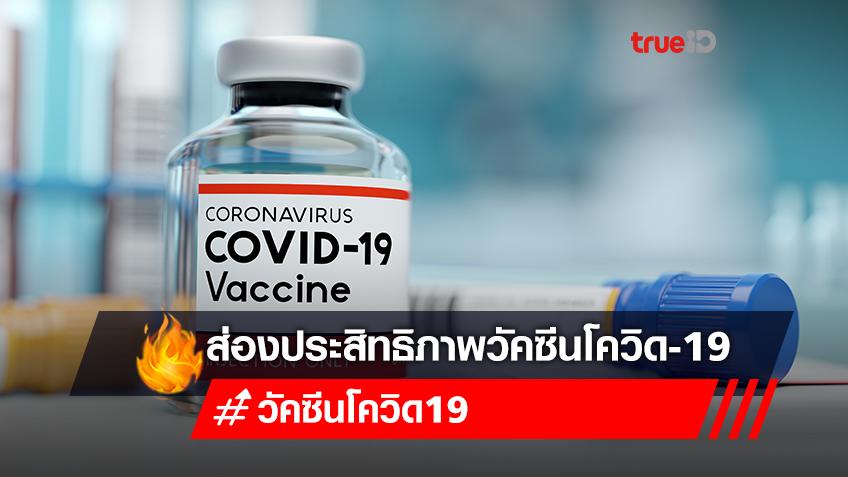 ส่องประสิทธิภาพวัคซีนโควิด-19 ที่คนไทยรอฉีด