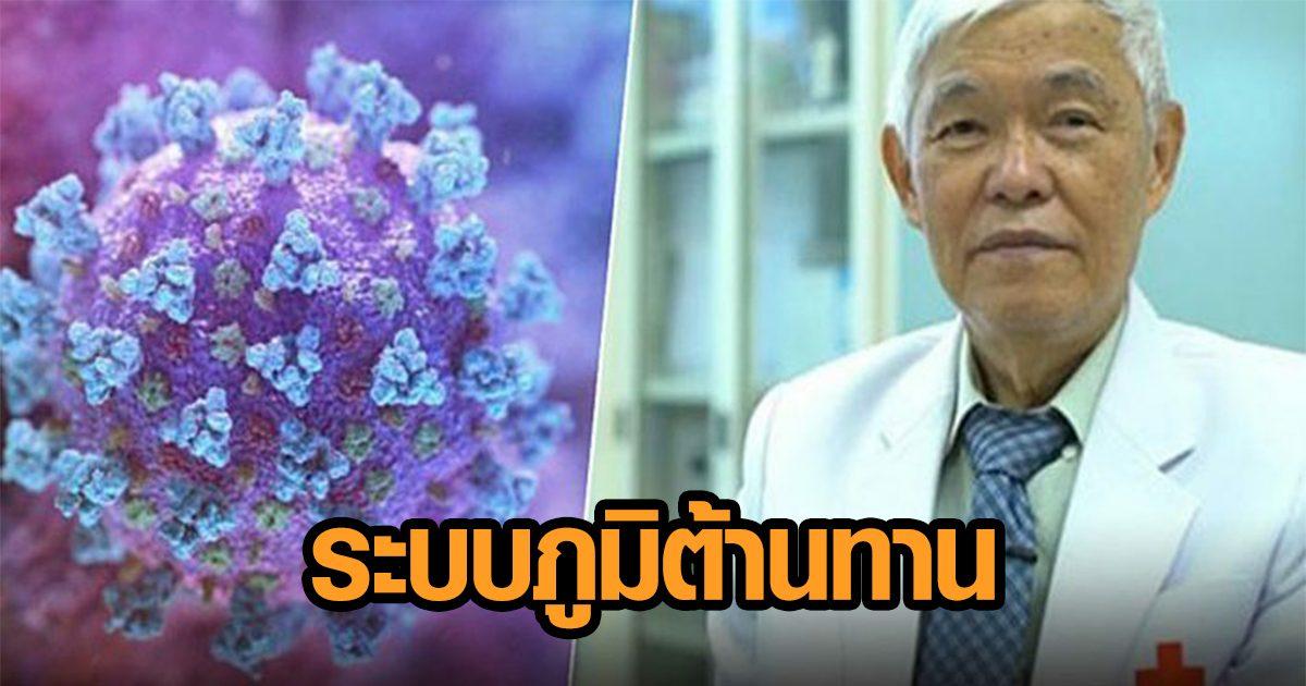 หมอยง วิเคราะห์ โควิด-19 กับ 'ระบบภูมิต้านทาน' เชื่อมโยงปมศึกษาพัฒนาวัคซีน