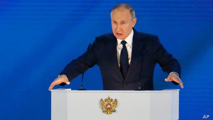 """ปูติน เตือนต่างชาติ """"อย่าล้ำเส้น"""" ซัดชอบประณามรัสเซีย เหมือนกีฬาชนิดหนึ่ง"""