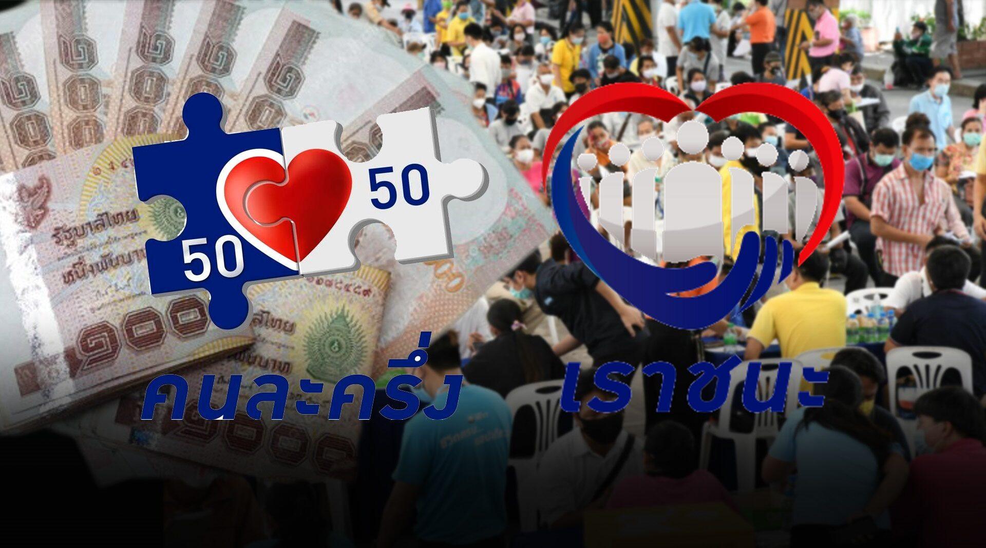 สรุป 6 มาตรการ เยียวยาโควิด ครม. แจก คนละครึ่ง-เราชนะ-เรารักกัน-บัตรสวัสดิการ พร้อมลดค่าน้ำ-ค่าไฟ