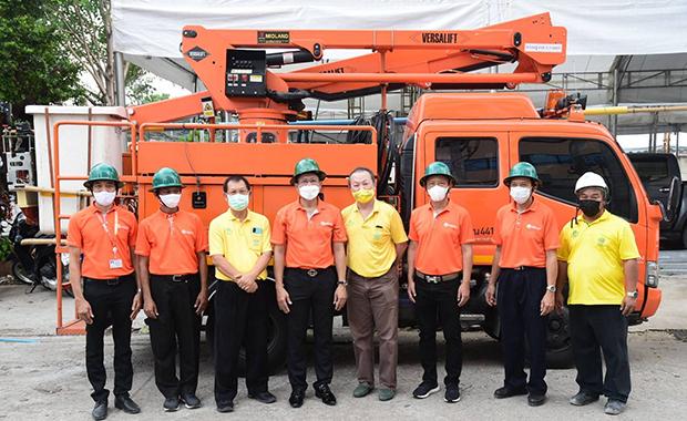 MEA ติดตั้งระบบไฟฟ้ารองรับ รพ.สนามพลังแผ่นดิน เพื่อพิชิตภัยโควิด-19