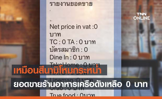 สึนามิโควิดกระหน่ำหนัก! ร้านอาหารดังยอดขายเหลือ 0 บาท