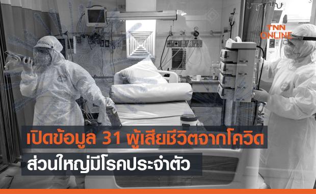 เปิดข้อมูลผู้เสียชีวิต 31 รายล่าสุด ส่วนใหญ่มีโรคประจำตัว