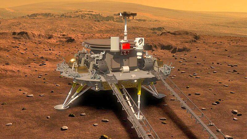 """จีนเฮ """"ยานจู้หรง"""" ลงจอดสำเร็จ ลุยสำรวจดาวอังคารครั้งประวัติศาสตร์"""