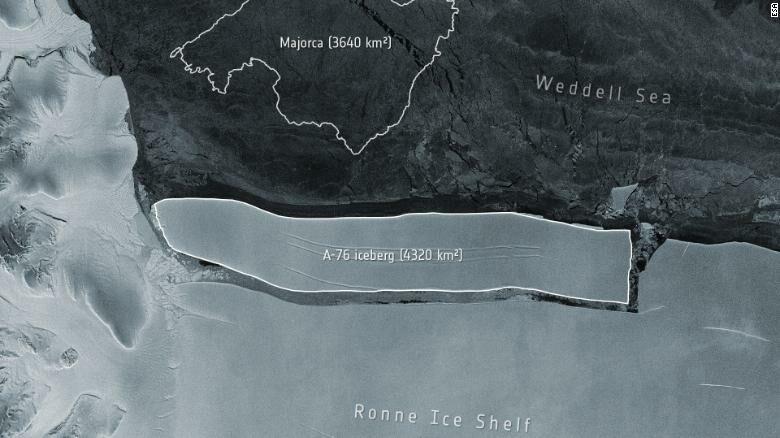 ภูเขาน้ำแข็งยักษ์สุด หลุดจากทวีปแอนตาร์กติกา นักวิทย์ไม่วิตก