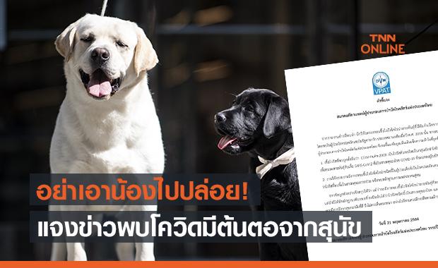 ส.สัตวแพทย์ผู้ประกอบการบำบัดโรคสัตว์ฯ แจงข่าวนักวิจัยเจอเชื้อโควิด-19 มีต้นตอจากสุนัข