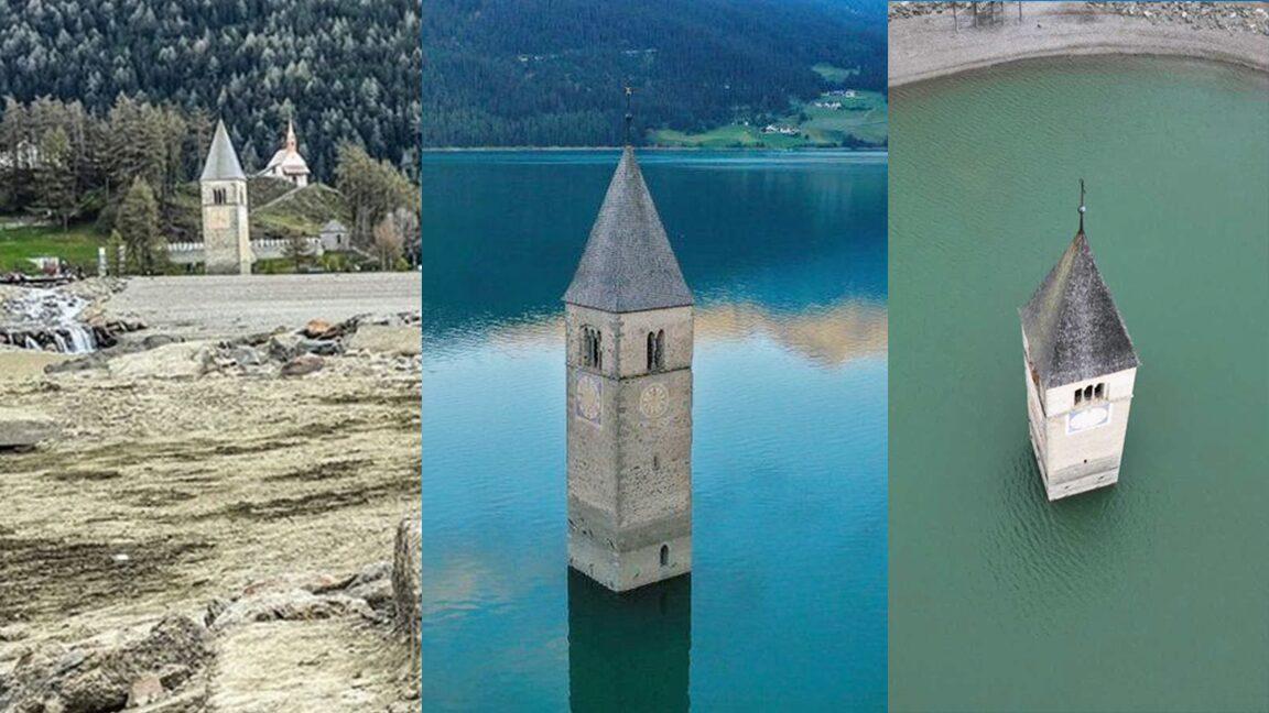 น้ำลดเมืองผุด หมู่บ้านที่หายไป70ปี โผล่นาทีทะเลสาบอิตาลีแห้งขอด