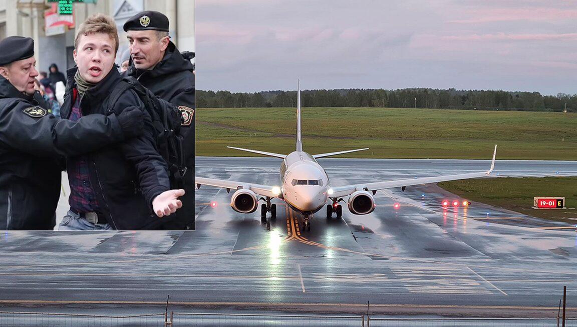 ผู้นำเบลารุสสั่งเครื่องบินรบ สกัดไรอันแอร์ บีบให้ลงจอด เพื่อจับนักข่าว