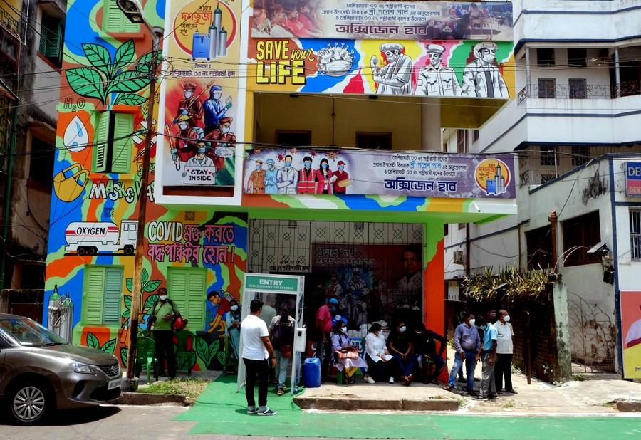 'อาคารกราฟฟิตี' ในอินเดีย พลิกบทบาทดูแลผู้ป่วยโควิด-19