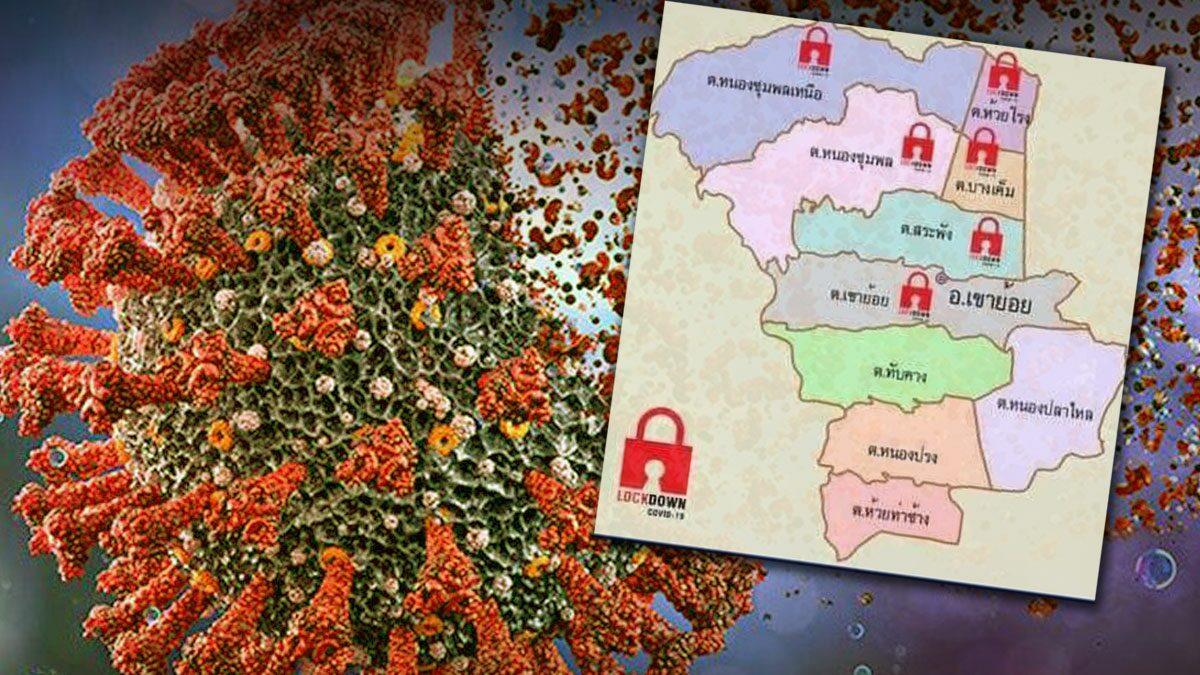 เพชรบุรี สั่งล็อกดาวน์ 6 ตำบล เขาย้อย 14 วัน ยอดติดโควิดพุ่งอันดับ2ของประเทศ