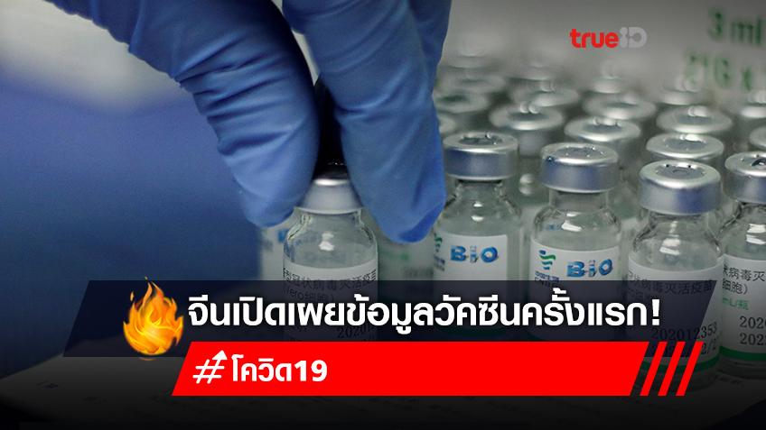 จีนเปิดเผยครั้งแรก! อัตราผลข้างเคียงจากวัคซีนต่ำ อาการผิดปกติรุนแรงพบได้ยาก