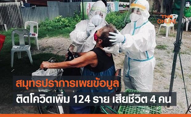 สมุทรปราการอ่วม! พบผู้ป่วยโควิดรายใหม่ 124 ราย เสียชีวิต 4 คน