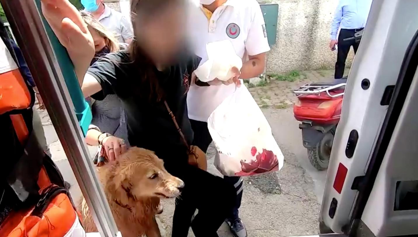 เอ็นดู! สุนัขวิ่งตามรถพยาบาลส่งเจ้าของไปรักษาตัว