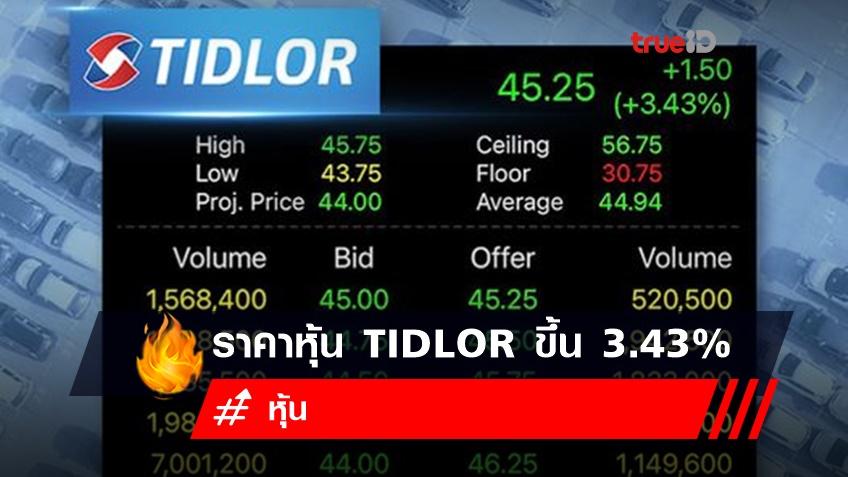 ราคาหุ้น TIDLOR ปรับขึ้น 3.43% โบรกเกอร์ให้ราคาเป้าหมาย 50 และ 54 บาท