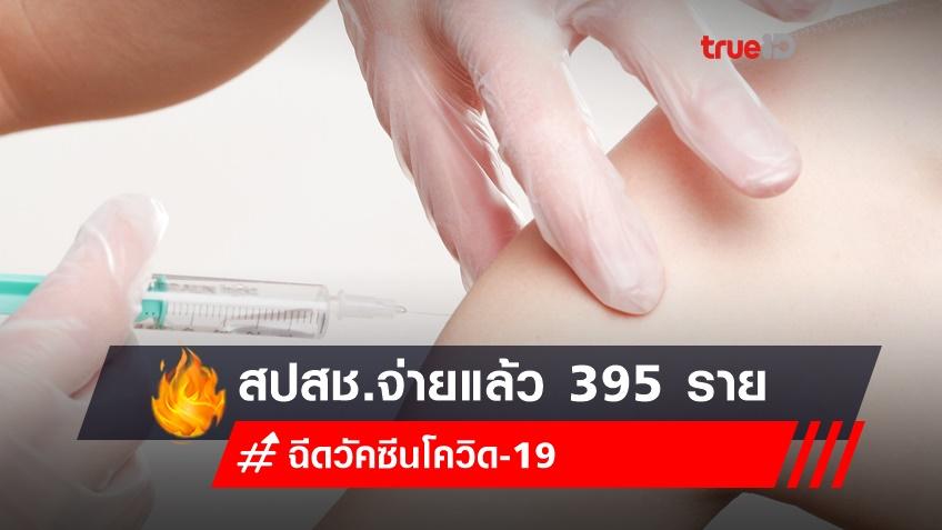 สปสช.จ่ายแล้ว 395 รายเกิดอาการไม่พึงประสงค์หลังฉีดวัคซีน กว่า 50% มีอาการชา