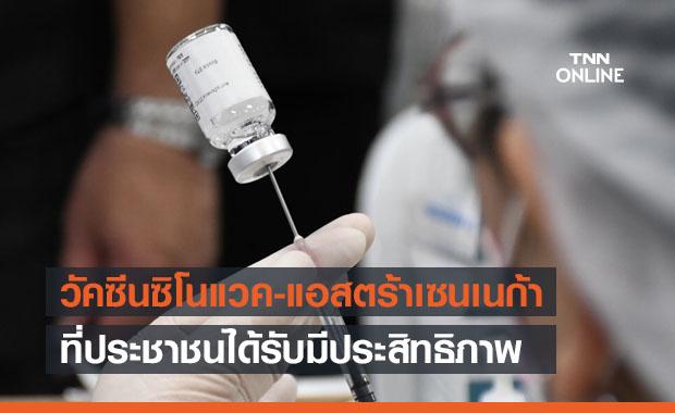 'อนุทิน'ย้ำวัคซีนซิโนแวค-แอสตร้าเซนเนก้า ที่ประชาชนได้รับมีประสิทธิภาพ