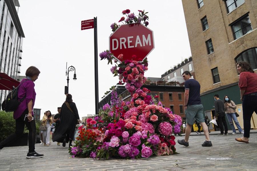 สวยงาม! ลัดเลาะชม 'เทศกาลดอกไม้' ในนครนิวยอร์ก