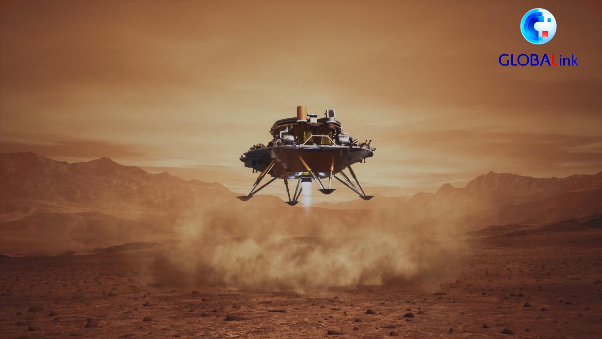 แอนิเมชันโชว์ 'จู้หรง' ของจีน ปฏิบัติภารกิจบนดาวอังคาร