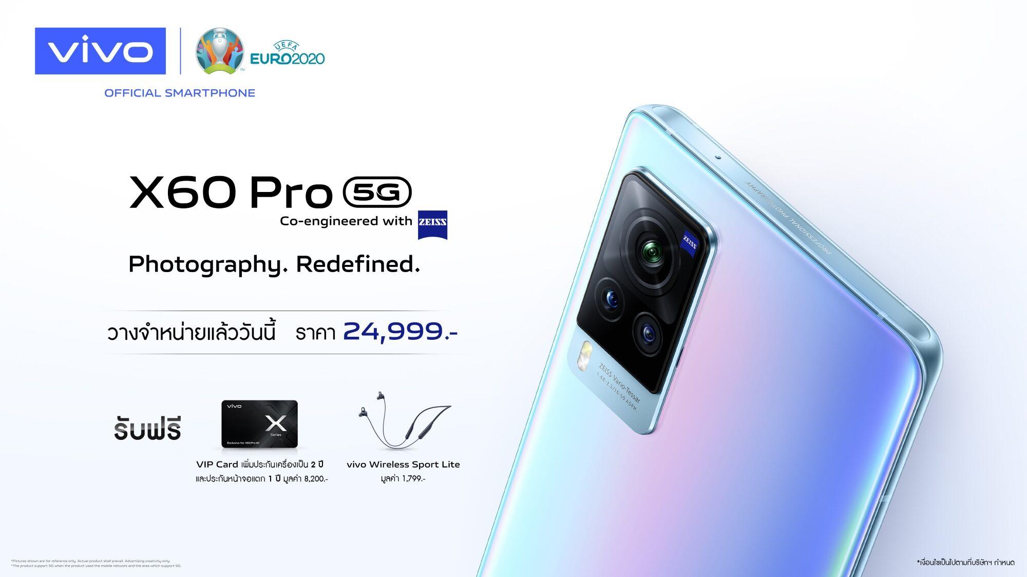 vivo X60 Pro 5G พร้อมกล้องที่พัฒนาร่วมกับ ZEISS วางจำหน่ายในไทยแล้ว