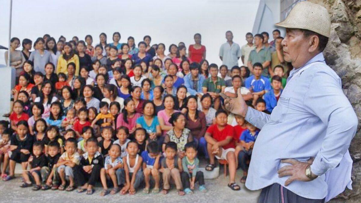 """ชายหัวหน้าครอบครัว """"ใหญ่สุดในโลก"""" เมีย-ลูก-หลาน 181 คน สิ้นใจในวัย 76 ปี"""