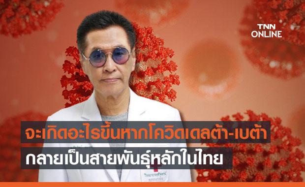 'หมอธีระวัฒน์' ห่วงจะเกิดอะไรขึ้นหาก'โควิดเดลต้า-เบต้า' เป็นสายพันธุ์หลักในไทย