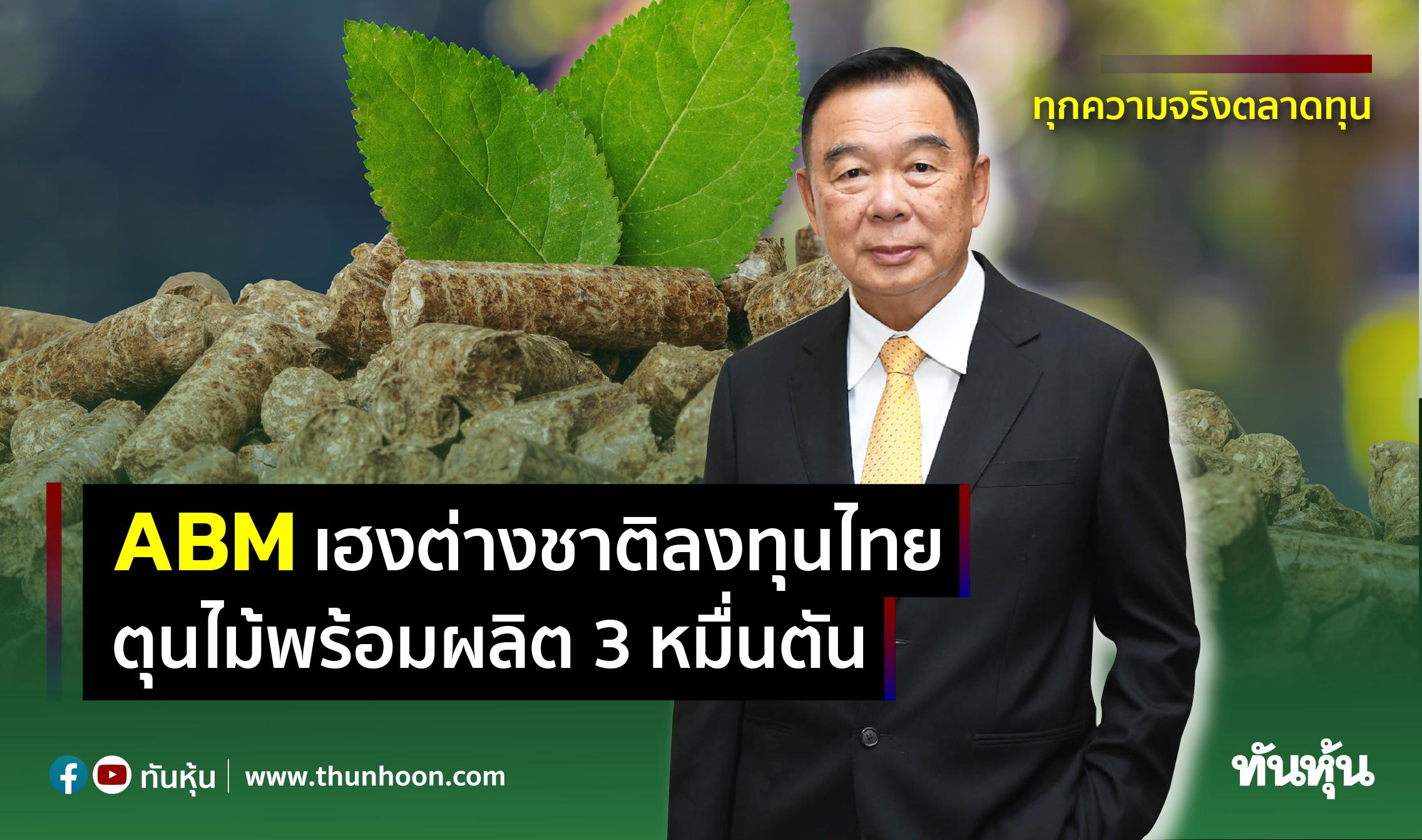 ABMเฮงต่างชาติลงทุนไทย ตุนไม้พร้อมผลิต3หมื่นตัน