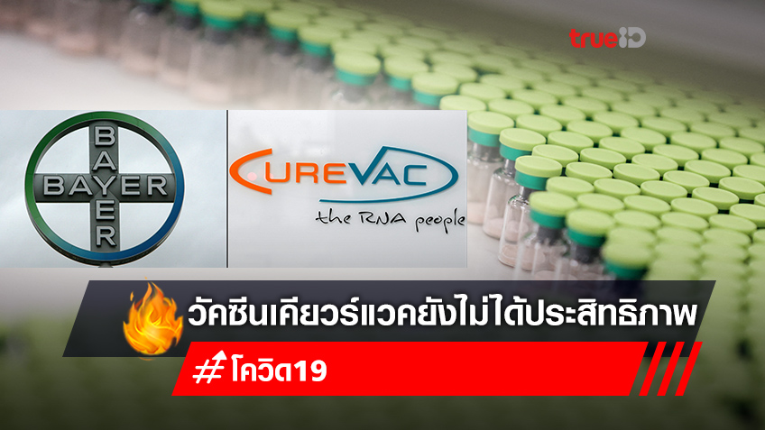 ยุโรปเศร้า ผลทดลอง CureVac วัคซีนเยอรมัน ป้องกันโควิดได้เพียง 47%