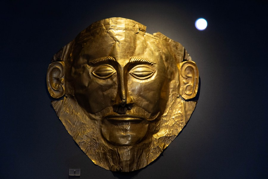 พิพิธภัณฑ์แห่งเอเธนส์จัดแสดง 'หน้ากากทองคำ' อารยธรรมไมซีนี