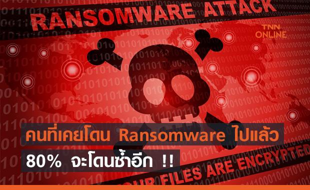 การศึกษาใหม่พบ คนที่เคยโดน Ransomware ไป จะโดนซ้ำอีก !!