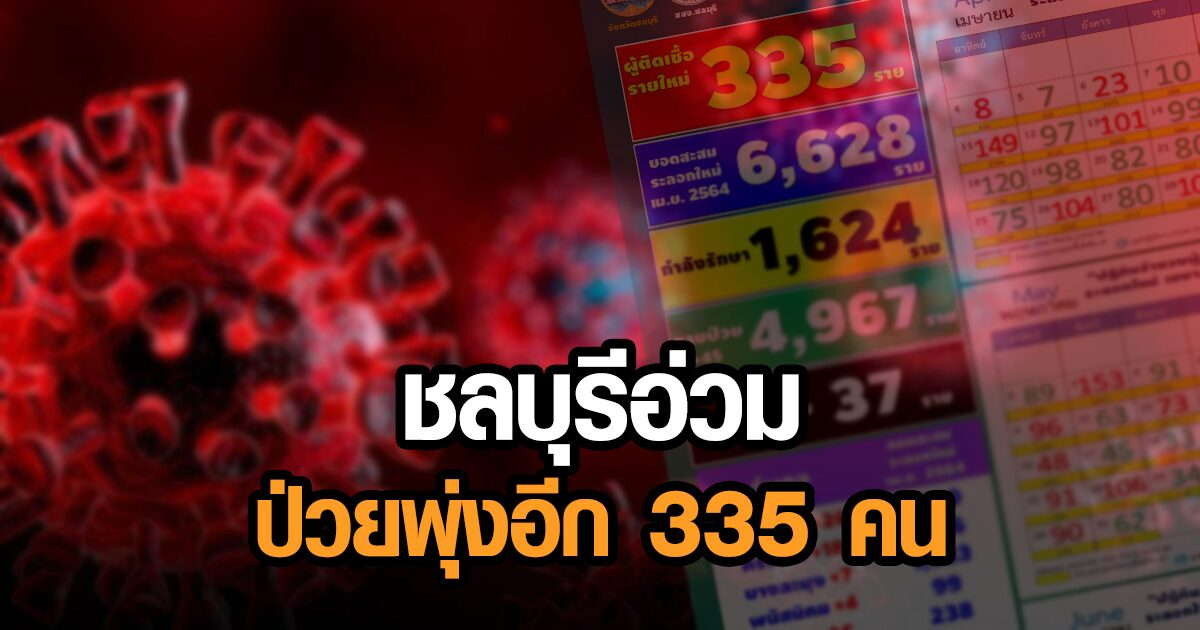 ชลบุรีป่วยใหม่อื้อ 335 คน ตลาดใหม่ฯเจอ 233 ราย - เข้าดูแล ปชช. กักตัว 155 คนหลังถูกสั่งปิดซอย