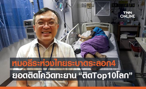 """""""หมอธีระ"""" ห่วงไทยโควิดระบาดระลอก 4 ยอดติดเชื้อ Top 10 โลก"""