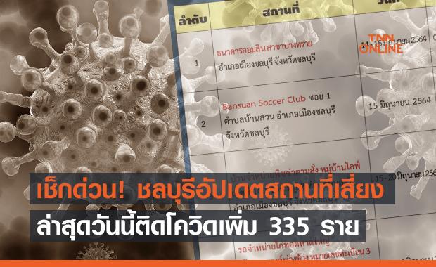 ชลบุรี อาการหนัก! ติดเชื้อ +335 ราย แจ้งสถานที่เสี่ยงเพิ่มใครไปเช็กด่วน