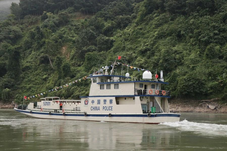 จีน-ลาว-เมียนมา-ไทย ร่วมลาดตระเวนแม่น้ำโขง ครั้งที่ 109