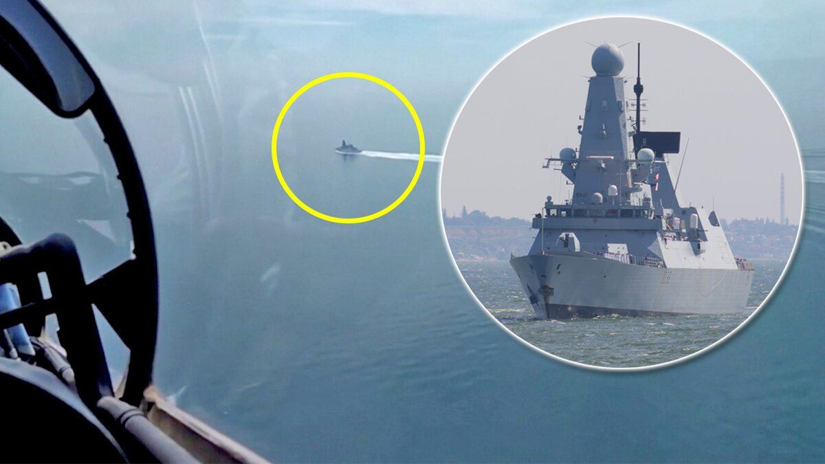 """อังกฤษปัดรัสเซีย """"ยกทัพยิงเตือน"""" หลังเรือพิฆาตราชนาวีแล่นใกล้ไครเมีย (คลิป)"""