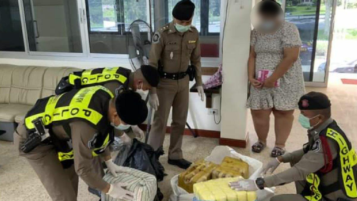 ตร.จับสาวท้อง ขนยาบ้าล็อตใหญ่ 8 แสนเม็ด สารภาพหาเงินไปทำคลอด