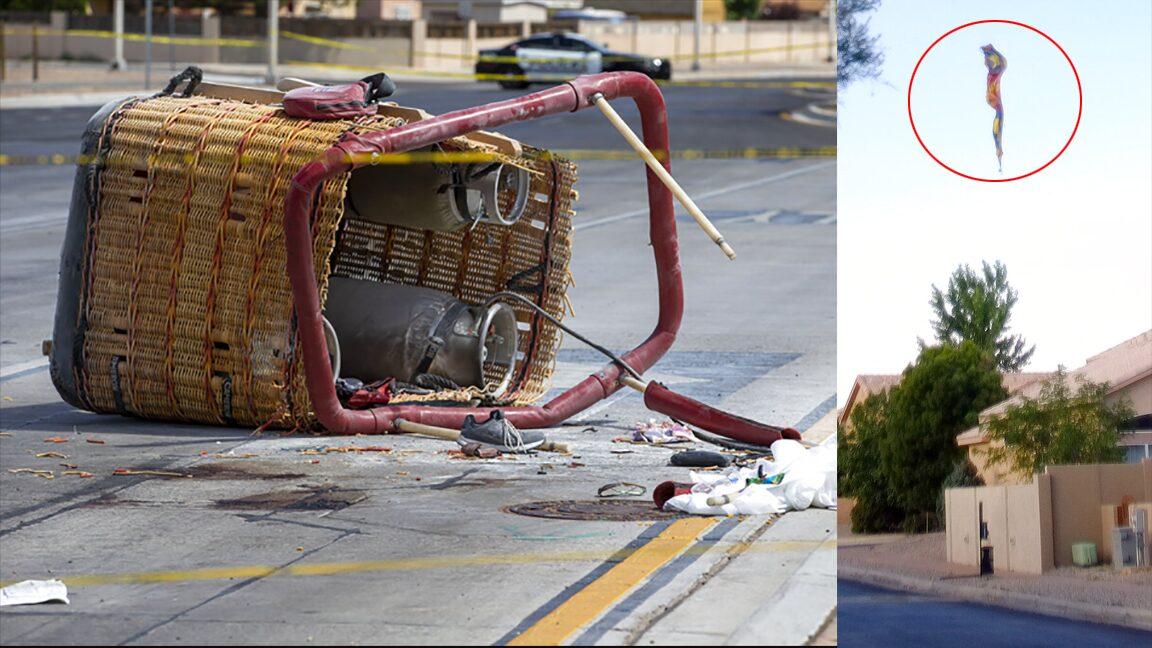 บอลลูนมรณะ ชนเสาไฟฟ้าร่วงดิ่งถนน ดับ5 นายตร.เสียทั้งพ่อ-แม่