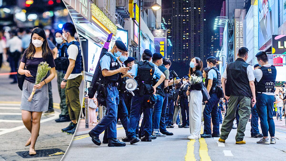 """ฮ่องกงเตือนไว้อาลัยลุง """"แทงตำรวจ"""" ก่อนปลิดชีพ เข้าข่ายหนุนก่อการร้าย"""