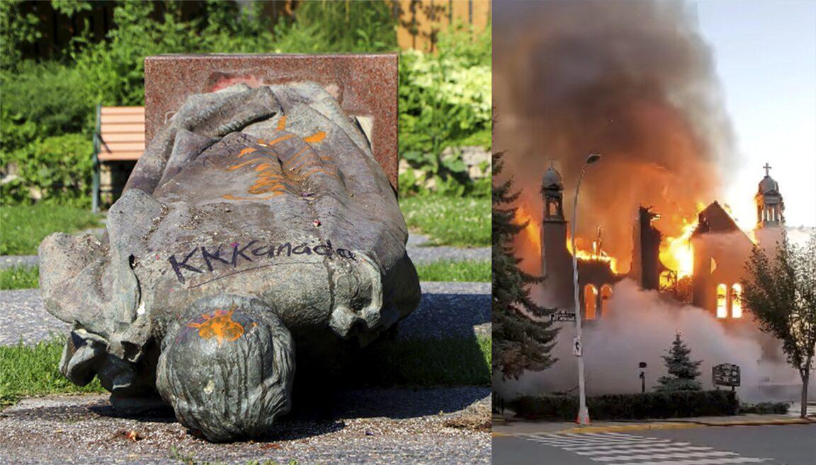 ความแค้นตลบแคนาดา จากหลุมเด็กพื้นเมือง โบสถ์ถูกเผา รูปปั้นควีนถูกโค่น