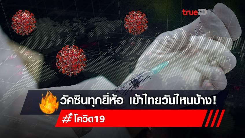 ซิโนแวค-ไฟเซอร์-โมเดอร์นา ไทม์ไลน์วัคซีนโควิด-19 ยี่ห้อไหนจะเข้าไทยบ้างในปีนี้
