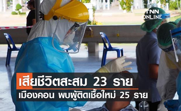 จ.นครศรีธรรมราช พบผู้ติดเชื้อใหม่ 25 ราย เสียชีวิตสะสม 23 ราย