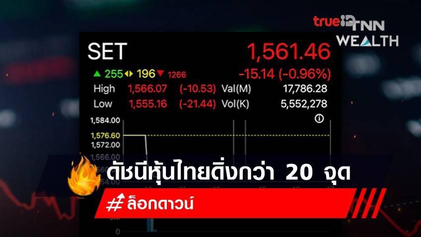 ดัชนีหุ้นไทยดิ่งกว่า 20 จุด กังวลยอดติดเชื้อโควิดทะลุ 7,000 คน - ราคาน้ำมันร่วง