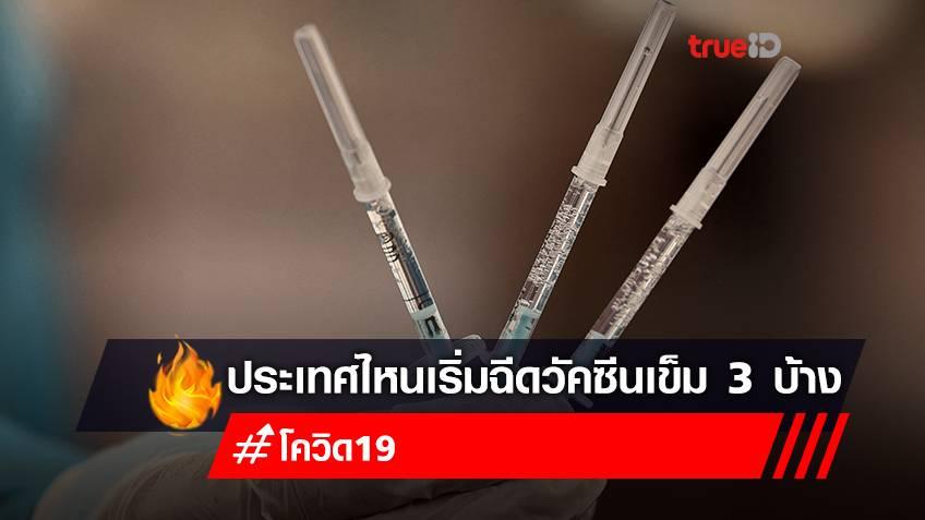 ประเทศไหนเริ่ม หรือใกล้จะเริ่ม 'ยุทธศาสตร์ฉีดวัคซีนเข็ม 3' เพื่อกระตุ้นภูมิโควิด-19 ให้ประชาชนบ้าง