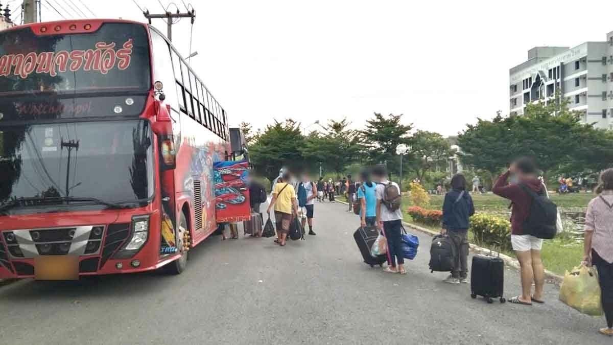 เหมารถทัวร์พาชาวอุดรธานีกลับบ้าน พบติดเชื้อ 36 ราย กักตัวอีก 51 ราย
