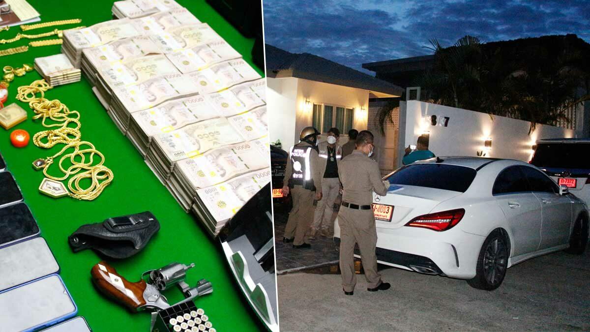 บุกจับ 2 หนุ่มคาบ้านหรูในพัทยา เปิดเว็บพนัน ยึดเงิน-ทองคำ-รถป้ายแดง ค่ากว่า 20 ล้าน