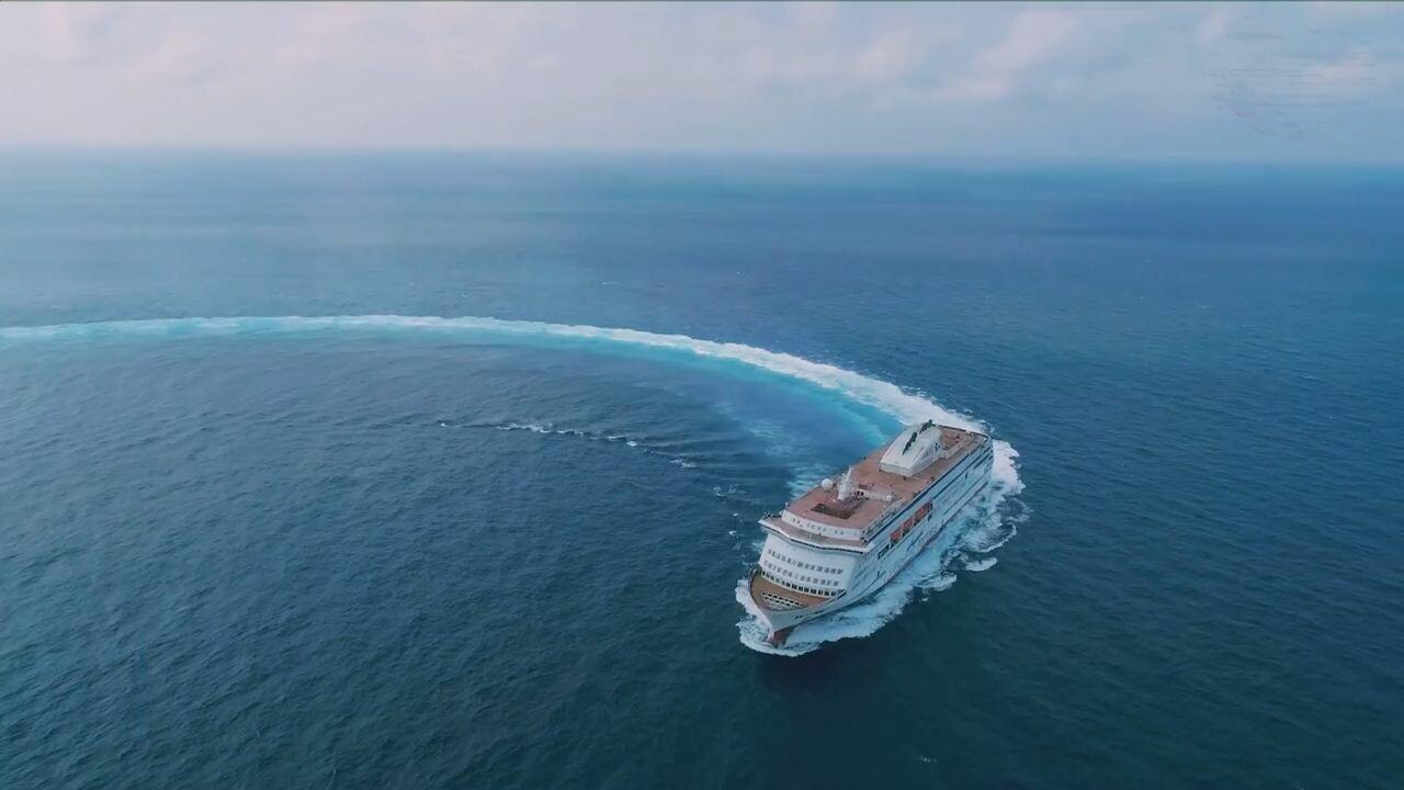 เรือสำราญสุดหรูฝีมือ 'จีน' ออกเดินทางสู่ 'แอลจีเรีย'