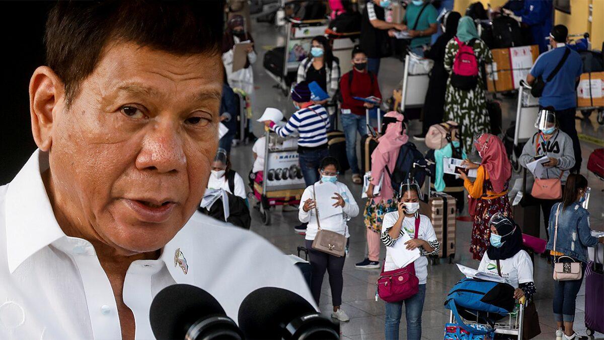 ฟิลิปปินส์ ห้ามคนเดินทางจาก ไทย-มาเลเซีย เข้าประเทศชั่วคราว สกัดโควิดเดลตา