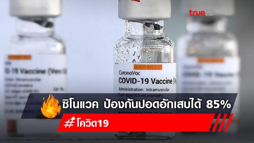 WHO รับรองคุณภาพวัคซีน'ซิโนแวค' ฉีดครบ2เข็ม ป้องกันปอดอักเสบได้ 85%