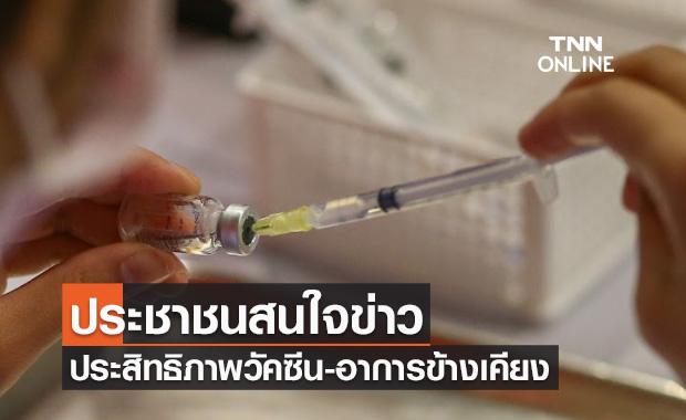 ดุสิตโพลเผยประชาชนสนใจข่าวประสิทธิภาพ-ผลข้างเคียงวัคซีนโควิด