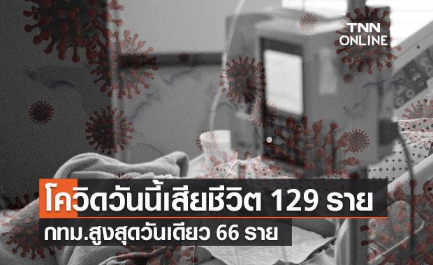 โควิด-19 วันนี้ เสียชีวิต 129 ราย กทม.สูงสุดวันเดียว 66 ราย